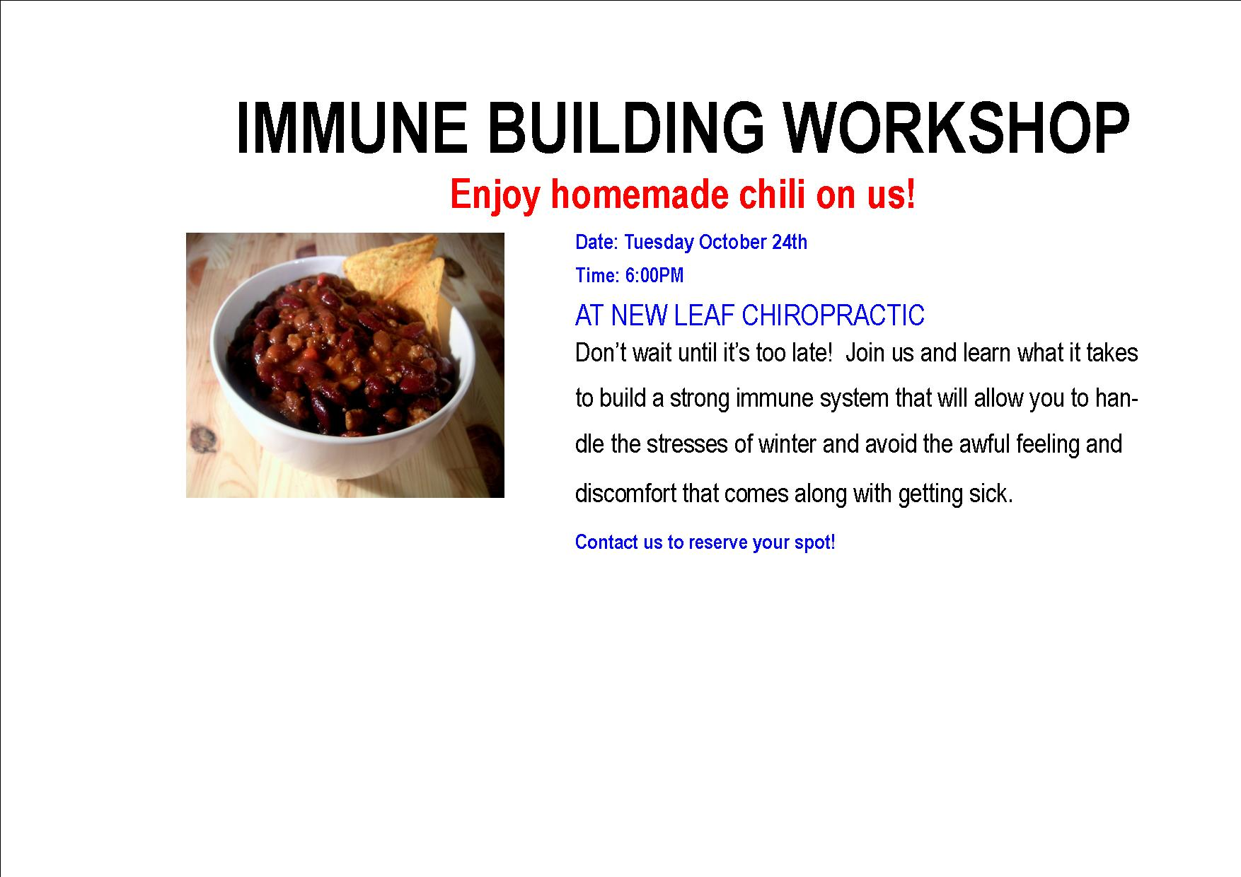 Immune Building Workshop